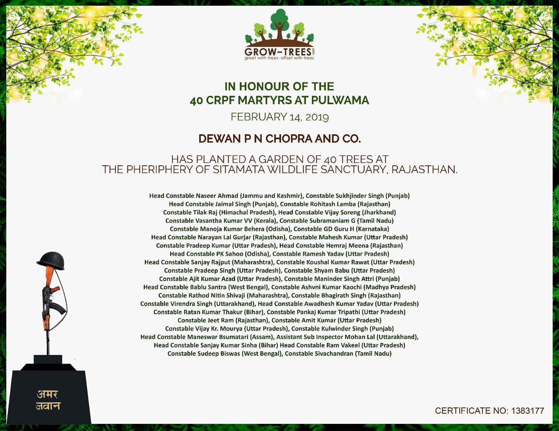 40 CRPF Martyrs