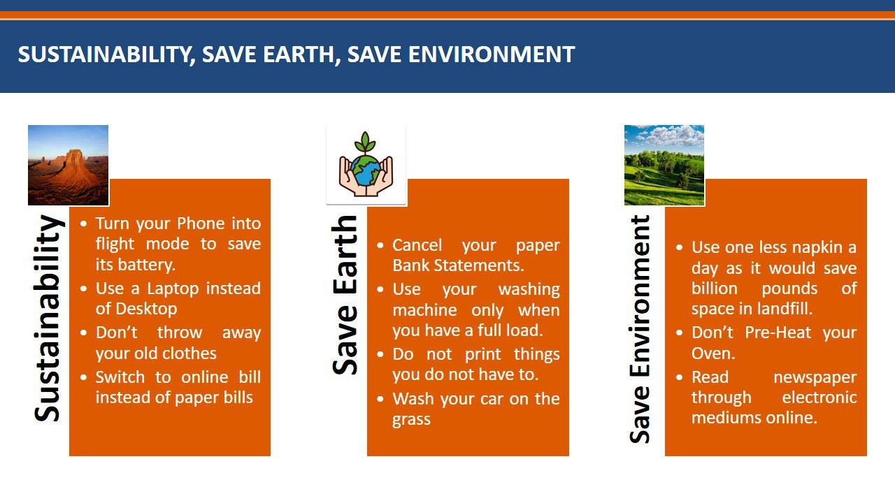 Sustainability Save Earth Save Environment